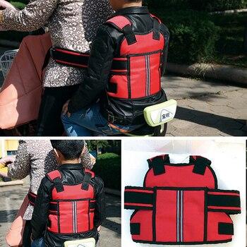 Arnés con correa de seguridad para motocicleta para niños, asiento de bebé ajustable para cinturón de seguridad, Protector de seguridad para la espalda, 3 colores