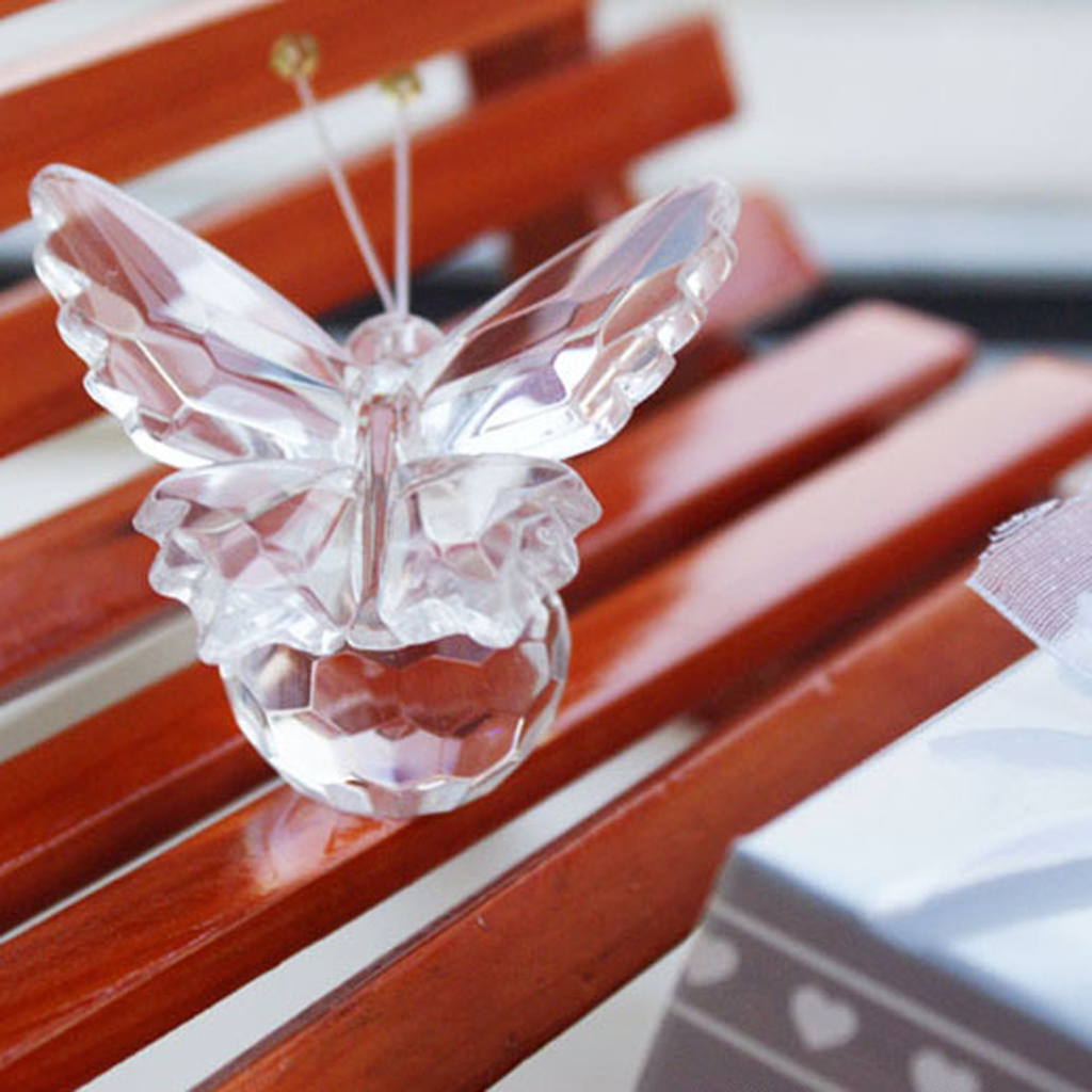 Свадебный подарок, красивые стеклянные украшения в виде хрустальной бабочки для дня рождения, товары для детского душа, Домашний Настольны...