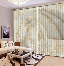 blackout curtains Solid marble window curtain living room bedroom kids room kitchen curtains window home decor(China)