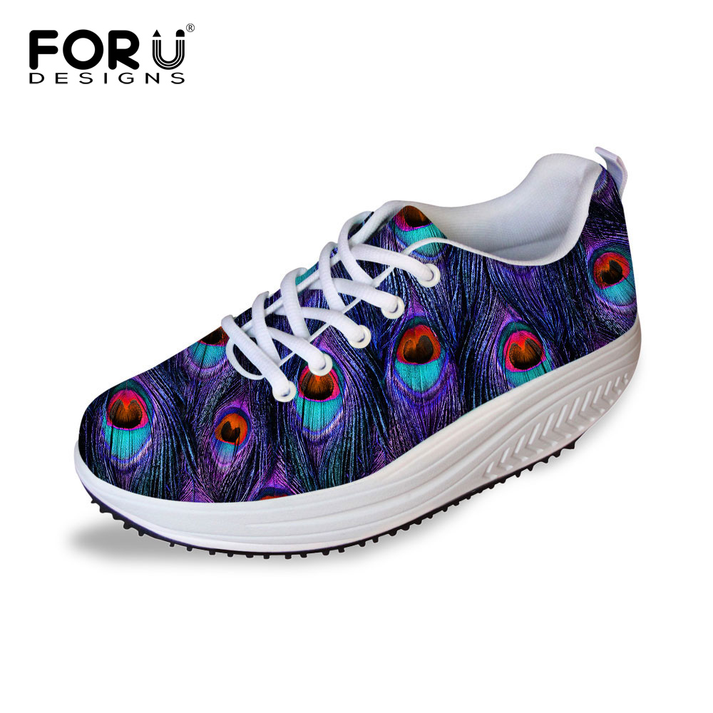FORUDESIGNS Fashion Women Flat Platform Shoes Female Autumn Summer Breathable Mesh Shoes Ladies Hight Heel Slimming Swing Shoes golden sequins shoes female loafer girl s fashion platform shoes women neon boat shoes woman flat low shoes autumn spring summer