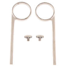2 Pieces Trumpet Slide Finger Ring with Screws Trumpet Replacement Parts for Trumpet Players Lovers