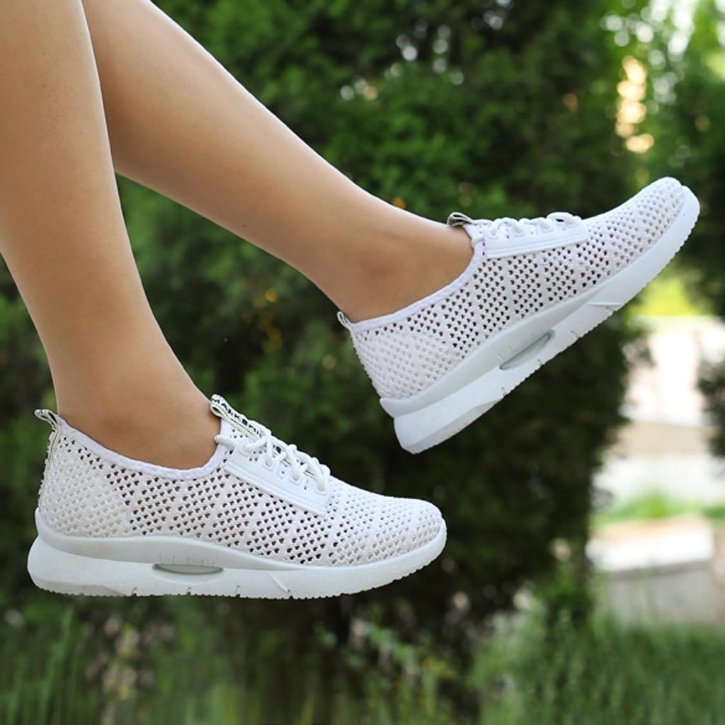 2019 Women Shoes Beathable Air Mesh Women Casual Shoes Slip On Summer Shoes Women's Sneakers Masculino Adulto Sport Ayakkabi