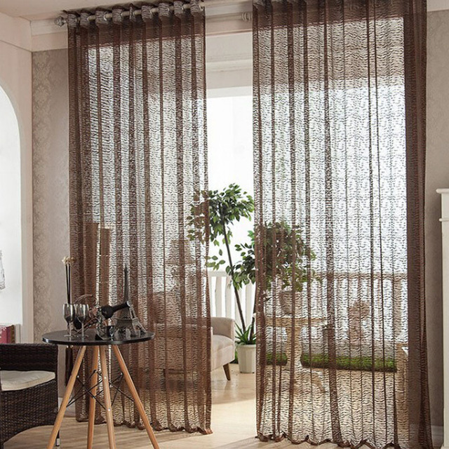 Cortina Blackout Organza Curtains For Living Room Roller Blinds Modern Curtain Summer Style