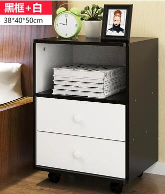 38*40*50CM Modern Wood Bedside Table Folding Bedroom Storage Cabinet Fashion Nightstand With Wheels