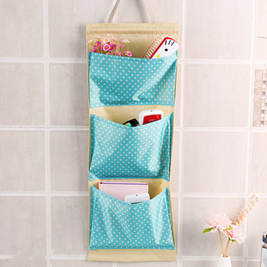 Free Shipping Multilayer Pockets Dots Clear Door Behind Wall Holder Hanging  Kitchen Bathroom Storage Bag Storage Tidy Organizer In Storage Bags From  Home ...