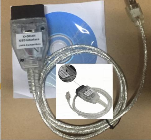 DHL или FedEx 30 шт. для B M W INPA K+ CAN K CAN INPA с чипом FT232RL INPA K DCAN USB Диагностика интерфейса от 1998 до 2008