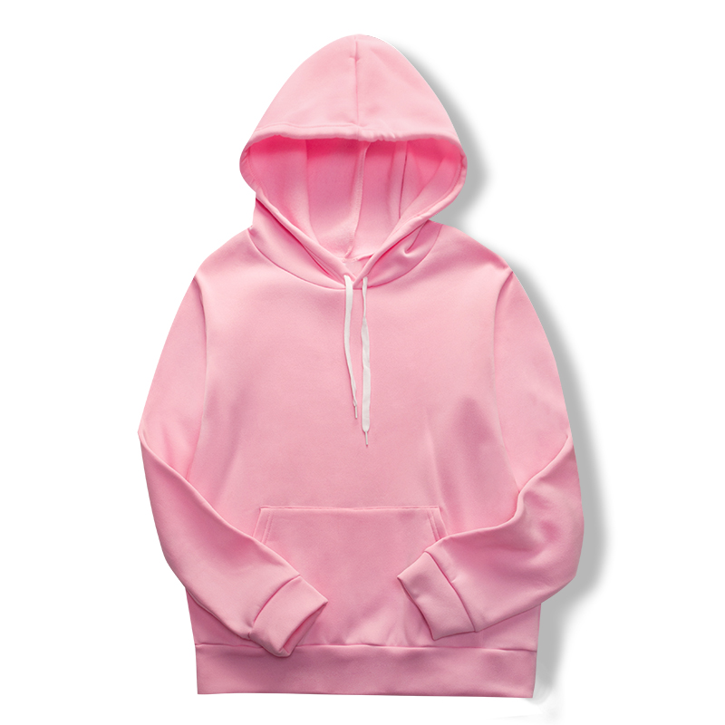 Pink Harajuku Hoodie For Spring/fall 2020 All-solid Color Loose Sport Lover's Suit With Pocket Women's Sport Hoodie