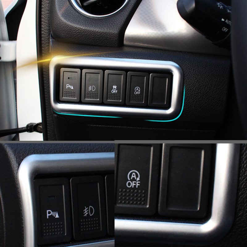 ABS Chrome For Suzuki Vitara 2016 front head light switch trim frame font b lamp b