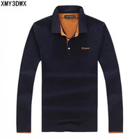 2017 Men S Boutique Autumn Slim Fit Leisure Business Long Sleeve Polo Shirts Male High Grade