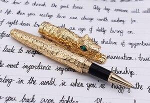Image 3 - החדש Jinhao ברדלס מלא מתכת זהב Rollerball עט לוקסוס מעודן מתקדם כתיבה מתנה עט עבור עסקים בוגר משרד