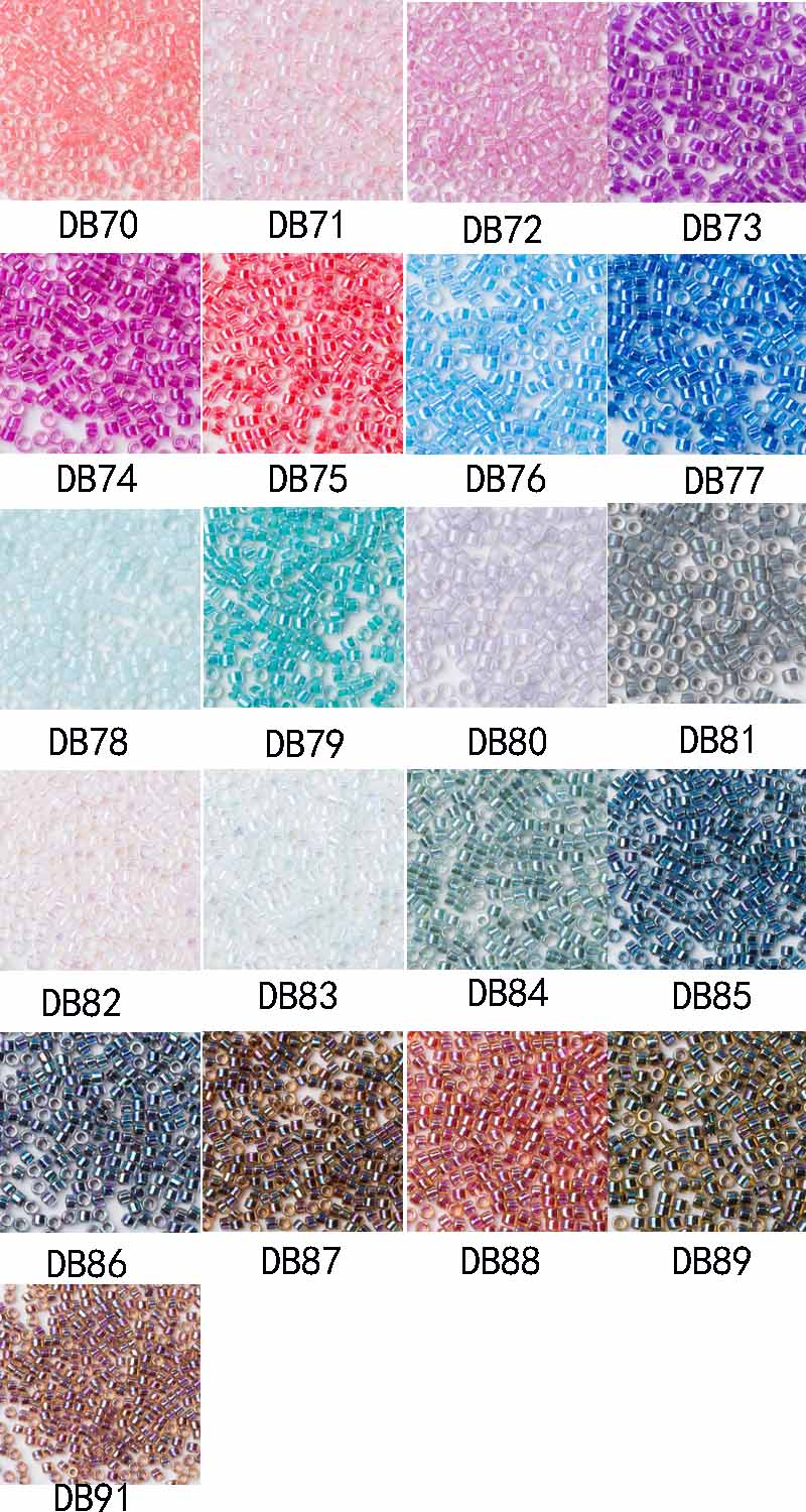 Taidian Light Blue Ab Japan Delica Seed Beads For Beading Size 11