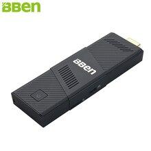 Bben Mini PC Windows 10 Ubuntu Intel Z8350 Quad Core 2 ГБ 4 ГБ Оперативная память 32 ГБ 64 ГБ Встроенная память HDMI Intel немой вентилятор карман PC Придерживайтесь вычислить ПК