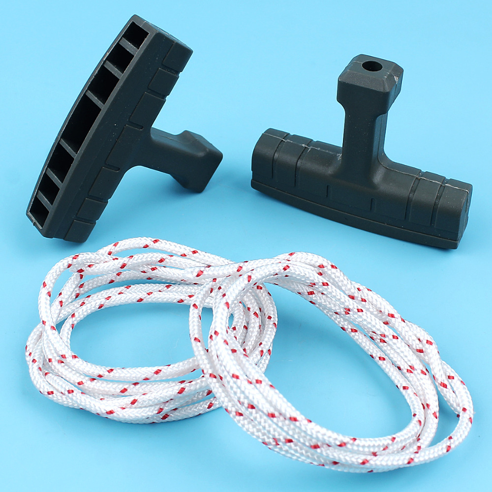 2 X Starter Handle Grip W/ Ropes Kit For HUSQVARNA 136 137 36 41 141 142 125 225 232 235 Chainsaw Replacement Parts