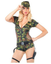 MOONIGHT 2016 Sexy Jumpsuit Women Camouflage Clothing field Army instructors Uniforms Halloween Costume
