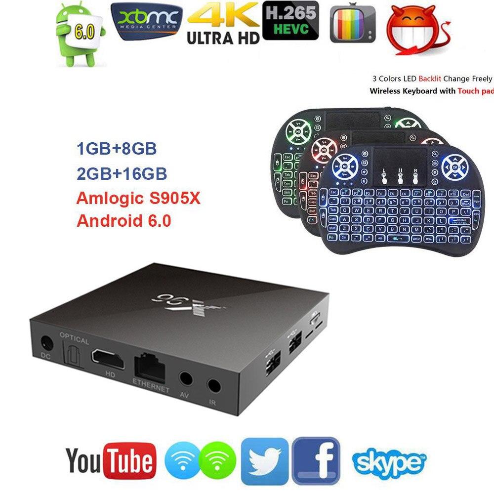 S905X Max X96 Android 6.0 TV Box Amlogic 2 GB RAM 16 GB ROM Quad Core WIFI HDMI