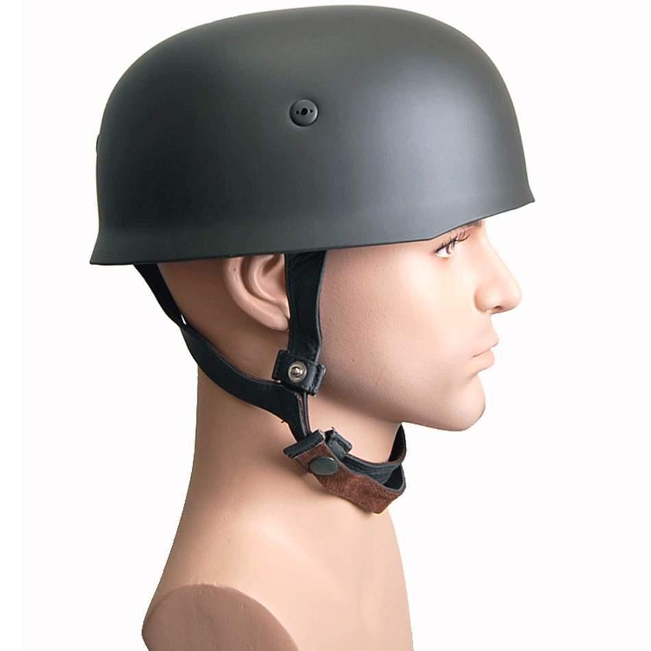 US $51 61 11% OFF|WWII German Fallschirmjager M38 Steel Helmet Leather  Liner Paratrooper Helmet World War 2 German M38 Helmet GM034-in Helmets  from