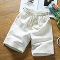 2017 Nuevo Estilo Del Verano Ocasional Pantalones Cortos Ropa de Playa de Los Hombres Cortos Hombres de Alta calidad Pantalones Cortos de Lino Más El Tamaño M-5XL