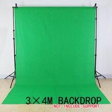Бесплатный Налоговый для России новый фотоаппаратура 3 м x 4 м хлопок Chromakey зеленый экран Муслин Фон