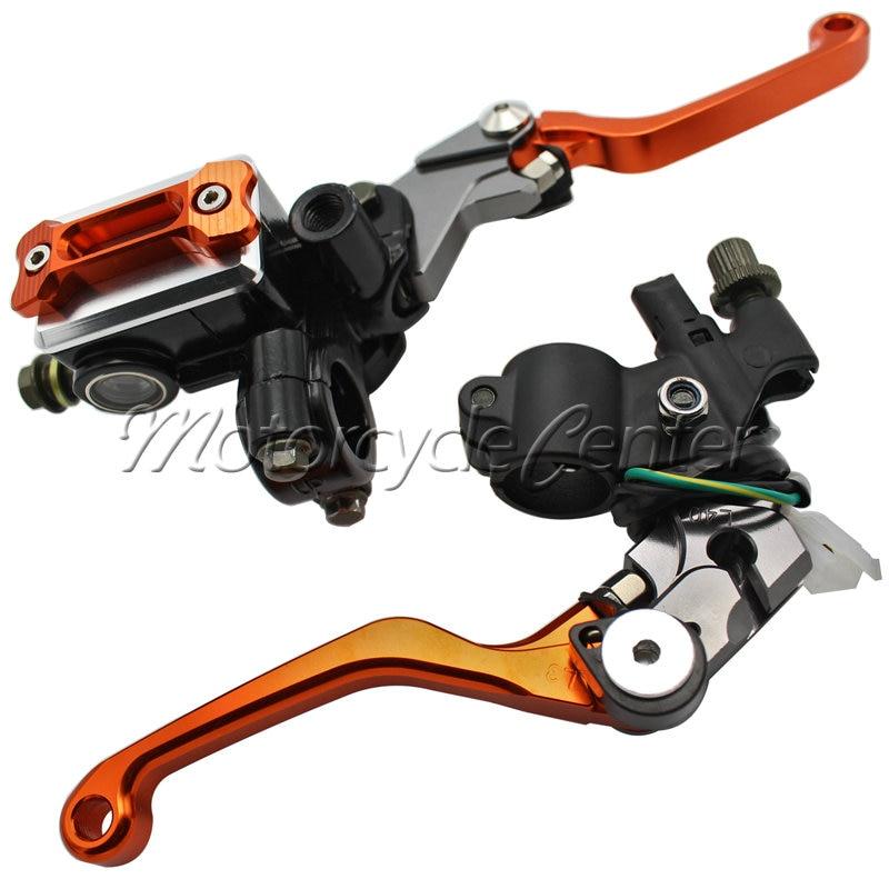 7/8 22mm Motorcycle Brake Hydraulic Master Cylinder Kit Reservoir Levers For KTM 250 SX-F XC-F XCF-W 450 525 SX SX-R XC XC-W 38mm cylinder barrel piston kit