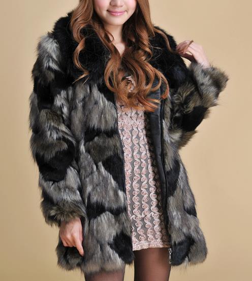 b9aaaddcdfd9 D hiver Z29 Plus Chaud Fourrure Furry Femme Artificielle Manteau 2018 Femmes  Clobee Veste Faux De ...
