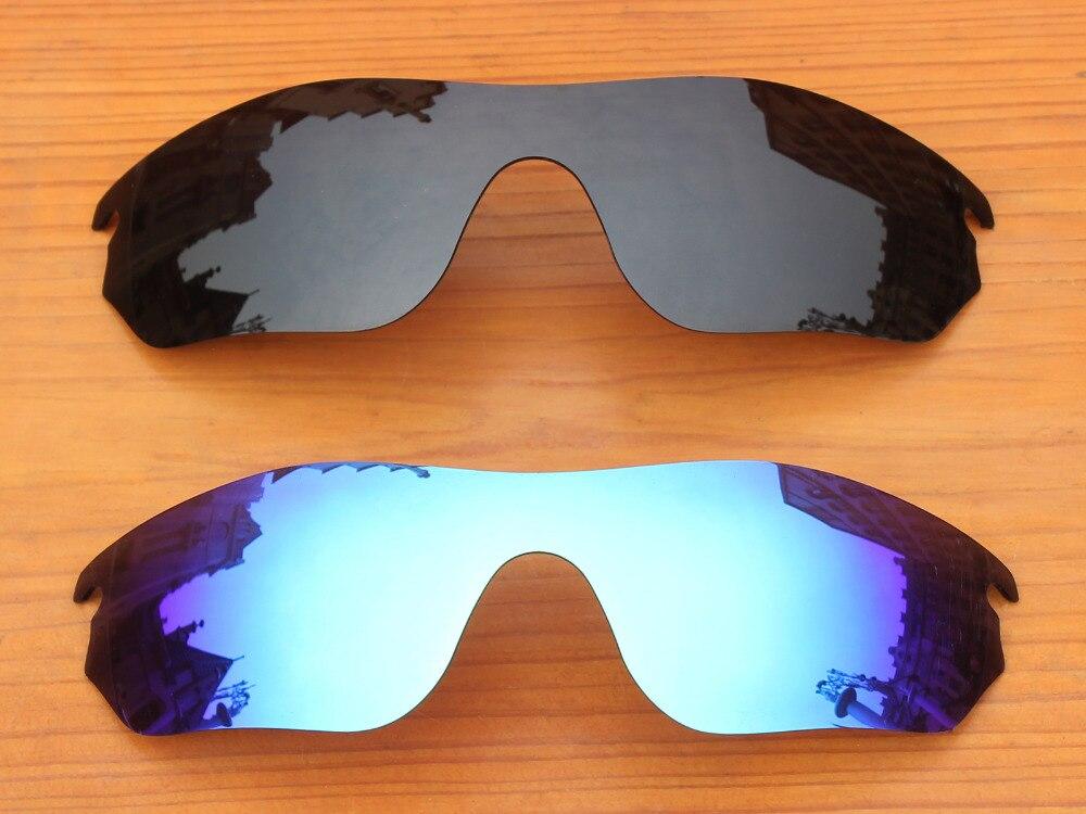 3e73fa90ab Negro y Azul de Hielo 2 Unidades Borde Lentes De Repuesto Para RadarLock  Polarizadas gafas de Sol de Marco 100% UVA y Uvb en Accesorios de Ropa y  Accesorios