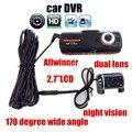 A1 originais câmera do carro DVR câmera dupla Full HD 2.7 polegada LCD Allwinner Câmera Traseira de visão Noturna G-Sensor auto automotivo