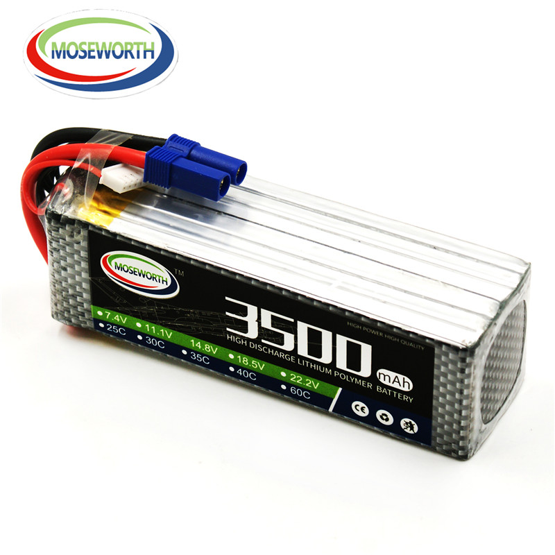 MOSEWORTH 6S 22.2V 3500mah 35C RC helicopter lipo battery for rc airplane drone car AKKU 6s batteria trumpeter 05103 1 35 mi 24v hind e helicopter