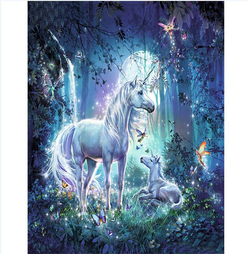 Home & Garden Faithful Diy Digital Painting By Numbers Package Flash Unicorn Oil Painting Mural Kits Coloring Wall Art Picture Gift Frameless