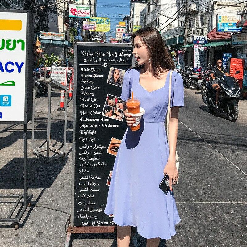 Mode Printemps 2019 Longue Plissée robe D'été décontracté Femmes Taille Haute Elascity Livraison gratuite