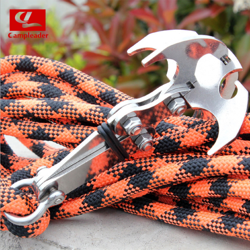 Acier inoxydable survie magnétique pliant grappin crochet escalade pêche queue mousqueton outils de survie CL116