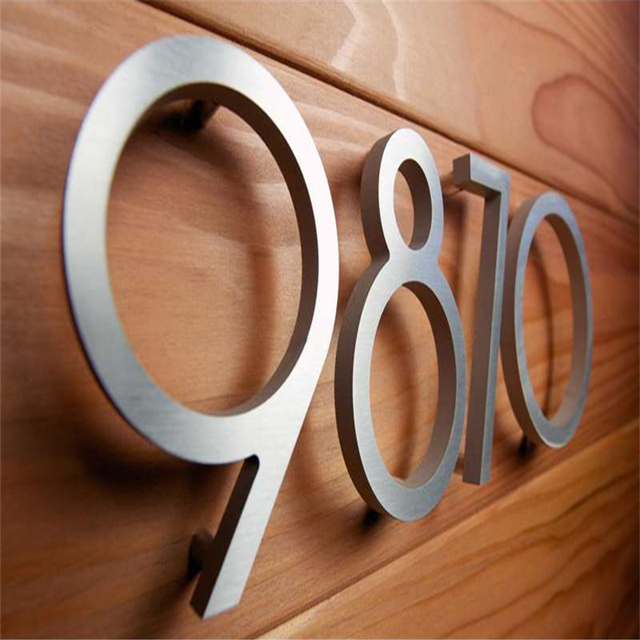 Factoy Outlet Outdoor Brushed Stainless Steel Letters And House Numbers For 10cm High In Electronic Signs From Components Supplies On
