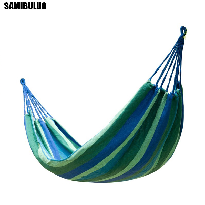 Canvas Fabric Double Hammock Rollover Prevention Colorful Outdoor Sport Home Camping Swing Hanging Bed