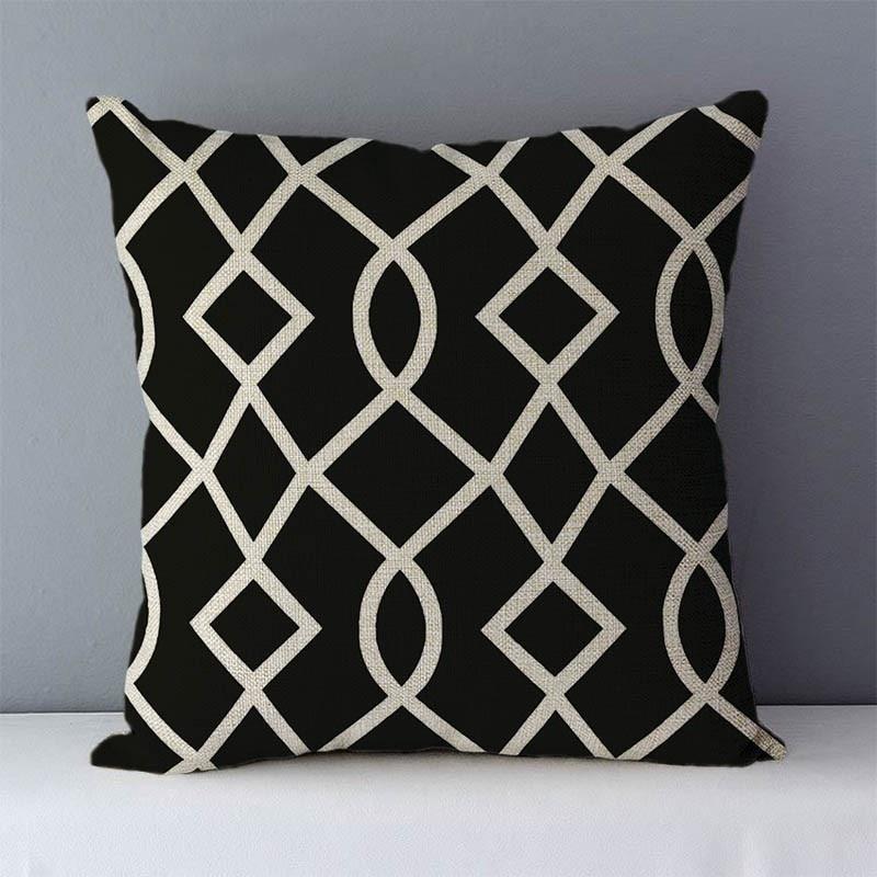 HTB1iZWjXdfvK1RjSspoq6zfNpXaH Quality Cozy Popular geometric couch cushion home decorative pillows cotton linen 45x45cm seat back cushions bedding pillowcase