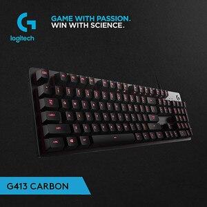 Проводная игровая клавиатура Logitech G413, механическая клавиатура с подсветкой, панель из алюминиевого сплава, игровая клавиатура 19Jul10, 100% ориг...