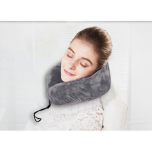 2017 Hot Sale Shaped Slow Rebound Patent Unique Design Velvet Memory Foam Travel Soft U Neck Pillow for Home Office Health