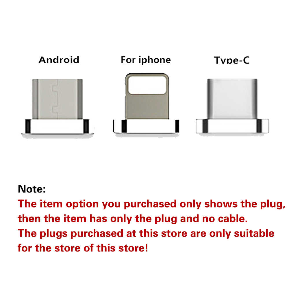 Cable de carga magnético 1 M, micro USB Cable para iPhone XR XS Max X 8 7 6 S imán cargador USB Cable de tipo C LED carga de cable
