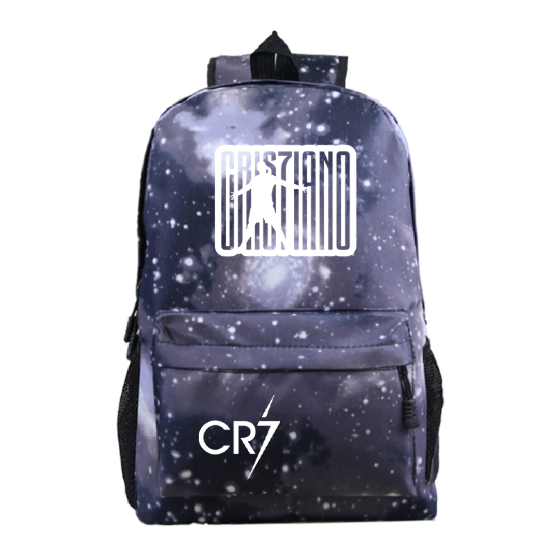 Hot Sale Cristiano Ronaldo CR7 Printing Backpack Students School Bags School Gift Rucksack CR7 School Backpack For Kids Boy Girl