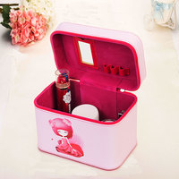 New Style Women Cosmetic Bags Case High Quality Pu Leather Female Korean Makeup Box Girl Ladies