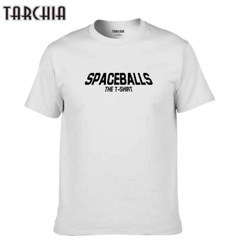 TARCHIA Shirt Casual Tshirt Tee Tops Boy 2019 New T-Shirts Fit T-shirt Men Short Sleeve T Shirt Plus Spaceballs Fashion Cotton