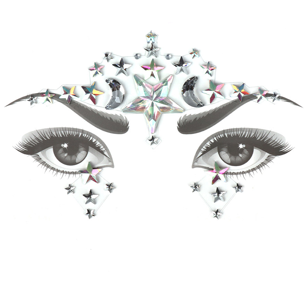 1Pc New Glitter Jewels Tattoo Sticker Face Body Gems Gypsy Festival Adornment Party Beauty Makeup 3D Face Crystal Stickers