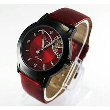 CLAUDIA Moda PU LEATHER Strap Watch Mulheres Luxo Diamante Bonito Relógio de Pulso de Quartzo Senhoras Relógios relogio relojes mujer Novo