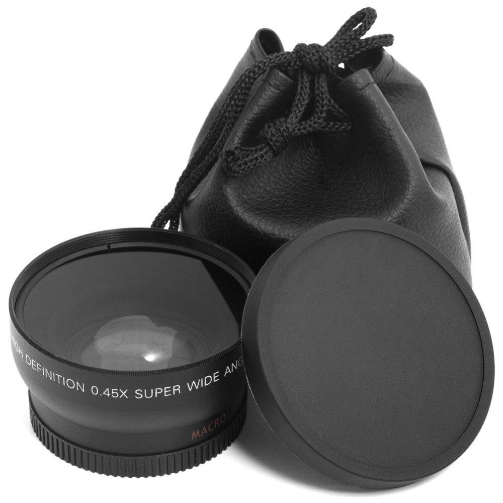 Professionnel HD 0.45x52mm Super Grand Angle Camera Lens Avec Macro Lentille Et sac de transport pour Nikon D800, d3200, D3100, D5100, D7000