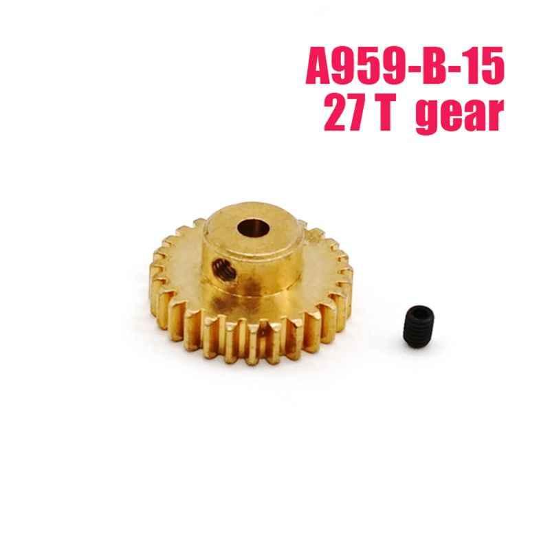 Engranaje Motor metal 27T para WLtoys A959-B-15 A969-B A979-B 540 Motor RC Coche