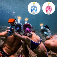 Blue Professional Optical Goggle Mask Myopia Diving Scuba Mask Snorkeling Equipment Swimming For Nearsighted With Breathing Tube