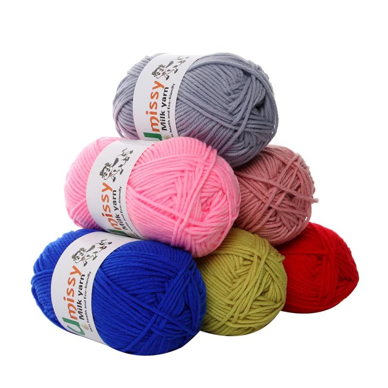 1pc Crochet Yarn Milk Cotton Knitting Yarn Soft Warm Baby Yarn for Hand Knitting Supplies 50/pc 1