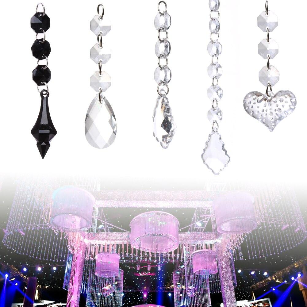 10pcs Acrylic Crystal Beads Drop Shape Garland Chandelier Hanging ...