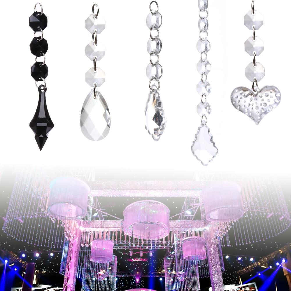 Wedding Decor Garland Clear Pendant Chandelier 10pcs Crystal Acrylic Hanging