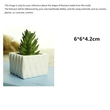 Small Square Silicone Mold for Home Decoration Flower Succulent Plants Handmade Craft Concrete Flower Pot Mould все цены