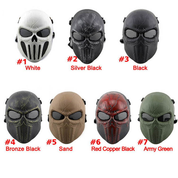 Back To Search Resultshome Free Shipping Airsoft Chastener Earprotective Mask Paintball Full Face Mask Halloween Wargame Field Game Cosplay Movie Prop Mask Keep You Fit All The Time