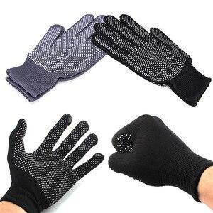 Image 5 - 2 adet profesyonel isıya dayanıklı eldiven saç şekillendirici aracı Curling düz düzleştirici siyah ısı eldiven bukle makinesi